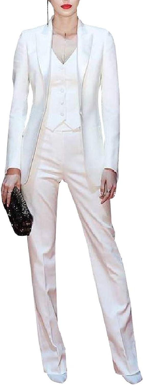 Abetteric Women Business Career SlimFit Blazer Suits Work Pants,Vest Jacket