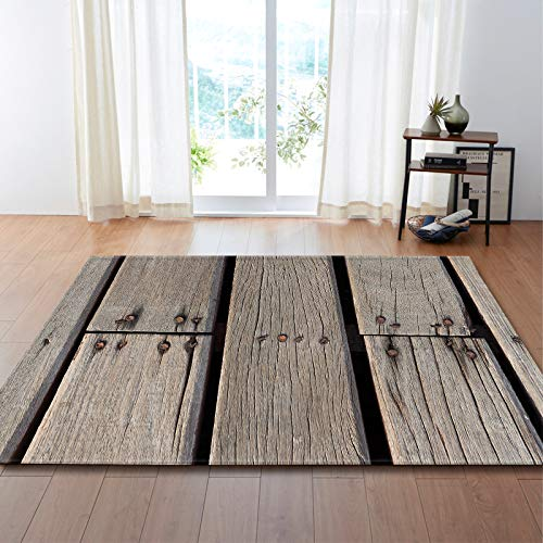 Oukeep European Fashion Home Decoration Carpet Wood Grain Floor Mats That Can Be Washed And Reused Pet Mat That Won'T Shed Hair And Is Easy To Care For