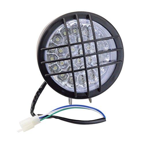 GOOFIT Motorrad-LED-Scheinwerfer-vorderes Licht-Umdrehungs-Signal-Anzeigen Ersatz für 50ccm 110cc 150cc Scooter-Moped-Viererkabel ATV