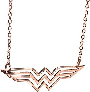 Collar con nombre de la Mujer Maravilla, colgante de mujer maravilla, superhéroe, símbolo de Wonder Woman, Diana Prince Charm, regalo para mamá, regalo increíble para mamá, mejor idea de regalo