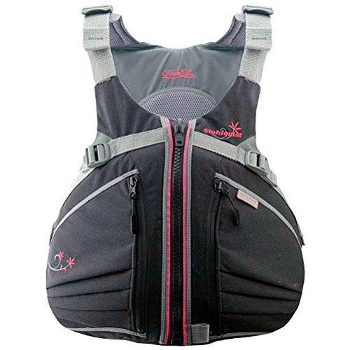 Stohlquist Women's Cruiser Life Jacket/Personal Floatation Device (Black/Pink, Medium/Large)