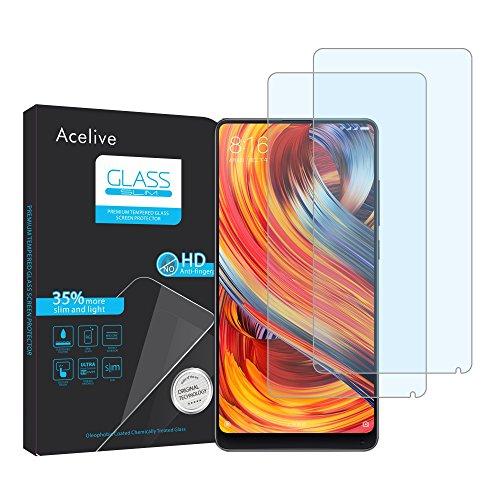 Acelive Vetro Temperato Xiaomi Mi Mix 2 2S, 2-Pezzi Pellicola Protettiva Resistente in Vetro Temperato per Xiaomi Mi Mix 2...