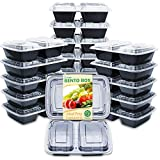 Save time and money: most meal-prep containers don't last. They crack after a couple uses and cannot even be used in the microwave without burning or melting. Not Enther, These portion control bento boxes come with 20 pack high-quality containers wit...