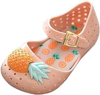 [洋子ちゃん_] 女の子ベビー靴 パイナップル サンダル 柔らかい 幼児の靴 赤ちゃん 靴 カジュアルシューズ 履き心地いい 滑り止め 出産お祝いプレゼント ギフト18ヶ月-4.5歳