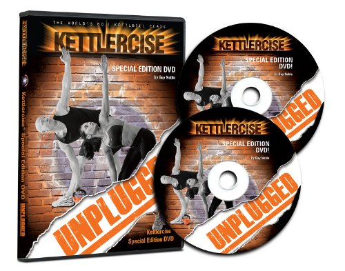 Kettlercise Unplugged 2 Disc DVD - The World's No#1 Kettlebell Class Home Workout DVD Ultimate Fat Loss & Body Tone Program