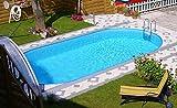 Miganeo® – piscina enterrada ovalada, serie Styria Oval, piscina desmontable, tamaños diferentes, 490x 300x 120cm /800x 400x 150cm, solo para enterrar