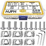 HJFH Tuercas en T para tuercas M3, M4 y M5, rosca de martillo, cabeza de martillo, tuercas de fijación, juego con tornillos y llave Allen para perfiles de aluminio 2020 (183 unidades)