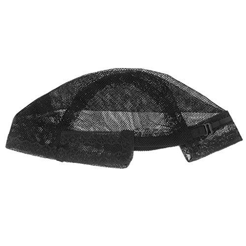 IPOTCH Noir Dôme Cheveux élastiques Perruque Cap Costume Maille Net Faisant Perruques Snood Hairnet