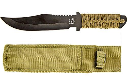 Messen eenhandsmes jachtmes riemmes outdoor mes riemholster 27 cm staal