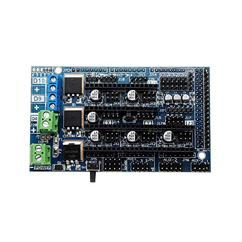 Feixunfan 3D Drucker Mainboard 3D-Drucker-Teile Upgrade-Ramps 1.6 Base auf Rampen 1.5 4-Schicht-Systemsteuerung Mainboard-Erweiterungsplatine Für CNC Maschine (Color : Black, Size : One Size)