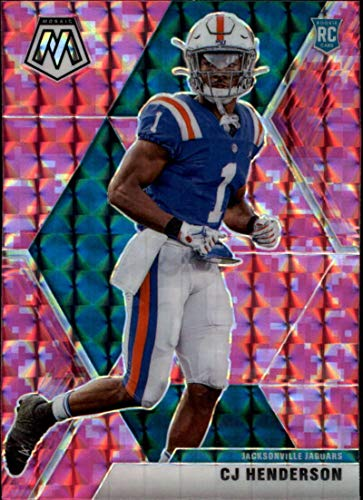 2020 Mosaic Football Prizm Camo Pink #246 CJ Henderson RC Rookie Jacksonville Jaguars Official Panini NFL Trading Card