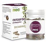 NEO | Extracto Seco de Hojas de Ortosifón 200 mg | 45 Cápsulas Naturales | Para Ayudar a Aumentar la Diuresis | Libre de Alérgenos y GMO | Tomar de 1 a 2 Cápsulas a Día | Liberación Rápida
