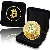 innoGadgets Medalla Bitcoin física recubierta de Oro auténtico de 24 Quilates. En un Cofre Noble para una verdadera Pieza de coleccionista