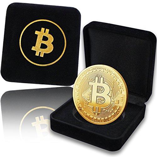 innoGadgets Physische Bitcoin Medaille mit 24-Karat Echt-Gold überzogen. In Einer edlen Schatulle für EIN wahres Sammlerstück