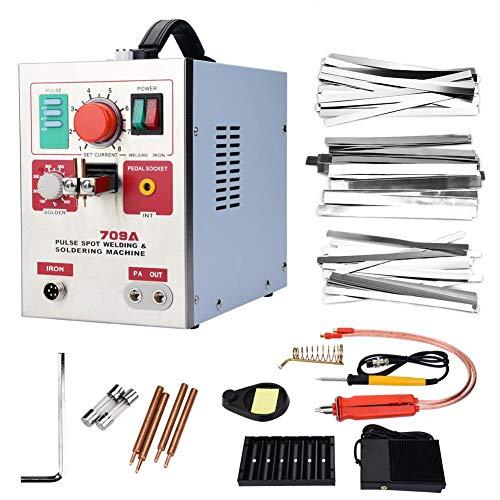 709A professionnel électrique 3.2kW Soudeuse Spot + stylo à souder DIY 18650 Batterie Machine de soudage pour le soudage de l'acier inoxydable, fer, nickel, accessoires de matériel(UE)