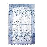 Amazingdeal365 Regentropfen Vorhang Flugfensterdeko Voile Gardinen Schal 2m *1 m Set für Tür Schlafzimmer Wohnzimmer Kinderzimmer Balkon Terasse Spielzimmer