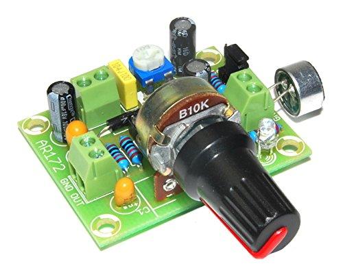 ArliKits AR172 Mikrofonverstärker Bausatz Elektret einstellbar grün