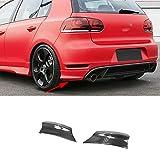 JTAccord Ángulo de Envoltura del alerón del Labio difusor del Parachoques Trasero para Golf 6 Vi MK6 GTI 2010-2013 Car Styling