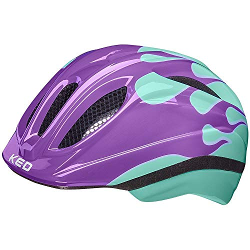 KED Meggy II Trend Helm Kinder Flame Lilac Mint Kopfumfang XS | 44-49cm 2021 Fahrradhelm