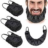 Beard Bib, 4 Pcs Silk Beard Bandana Beard Covers...