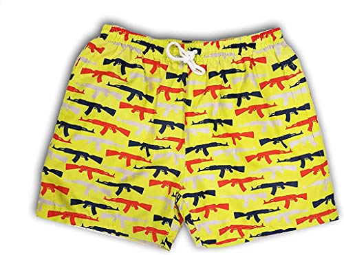 Savage Patriot Suns Out Guns Out Herren-Badehose, USA - Gelb - 5X-Large