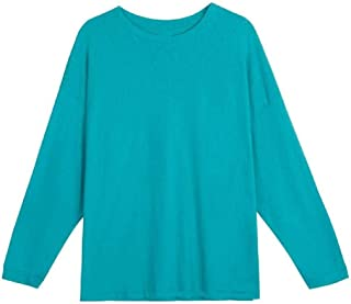 Comaba Women's Crew Neck Fall Winter Pullover Long Sleeve Tees Shirt