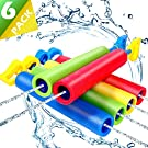 NZQXJXZ 6 Pack Foam Water Shooter, Water Guns Toys Water Blaster for Swimming Pool Beach Summer Outdoor, Water Squirt Guns Set Up to 31ft for Boys Girls Adults