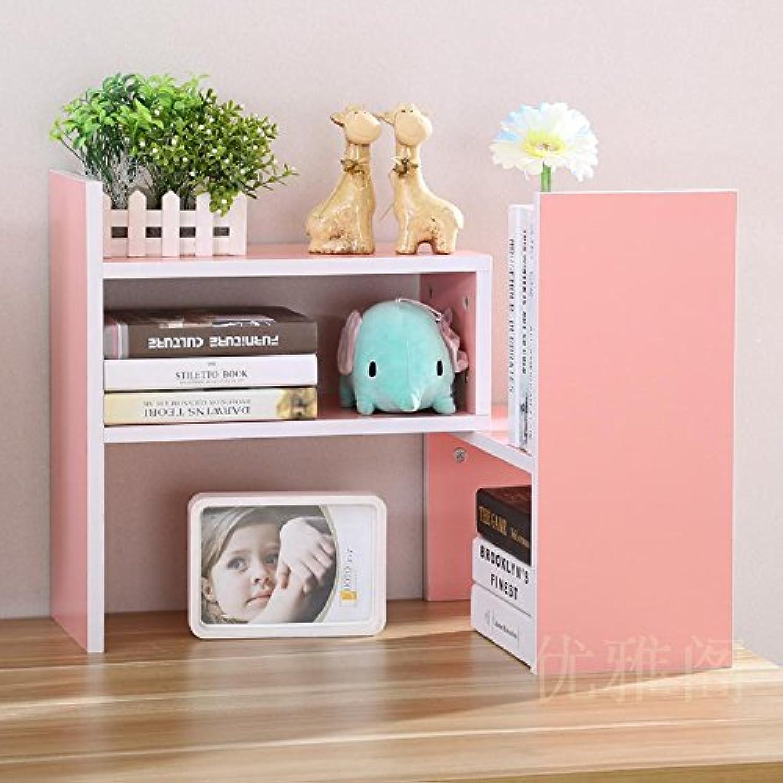 Creative telescoping bookshelves desktop bookshelves table shelf rack shelf easy office , little bookshelf pink (high-end)