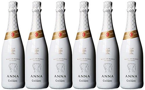 Codorniu Anna de Codorníu Cava Blancs Brut, 6er Pack (6 x 750 ml)