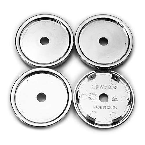 Rhinotuning 4 x 65 mm Universal ABS-Material Silber Rad Nabenkappen Nabendeckel für 551K66MR MR109