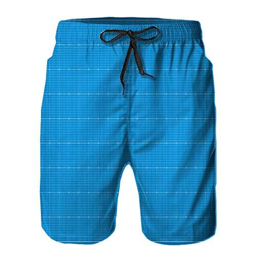 Blived Pantalones Cortos De Playa para Hombres,Ilustración de Vector de Fondo Plano Ancho,Pantalones De Chándal De Secado Rápido, Bañador De Verano para Ejercicios Al Aire Libre 3XL