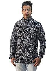 Matelco Mens Grey Woollen Buttoned Cardigan
