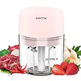 AYUQI Mini Food Chopper Electric - 250ML Kitchen Food Processor and Blender, USB Charging Portable Vegetable...