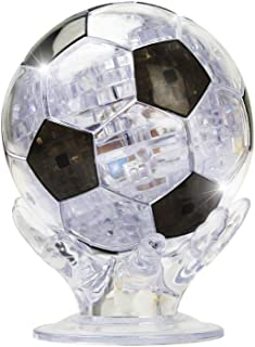 Coolplay 3D Soccer Crystal Puzzle, Light up Ball Puzzle - Black