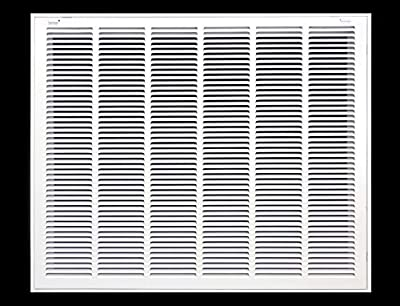 """Truaire 190 40X20 Stamped Return Air Filter Grille, Hinged, 40"""" x 20"""", White, Plastic, 23"""" x 1.75"""" x 43"""""""