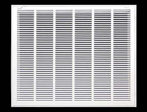 30' X 24' Return Air Filter Grille - Filter Included - Easy Plastic Tabs for Removable Face/Door - HVAC Vent Duct Cover - White [Outer Dimensions: 31.75w X 25.75h]