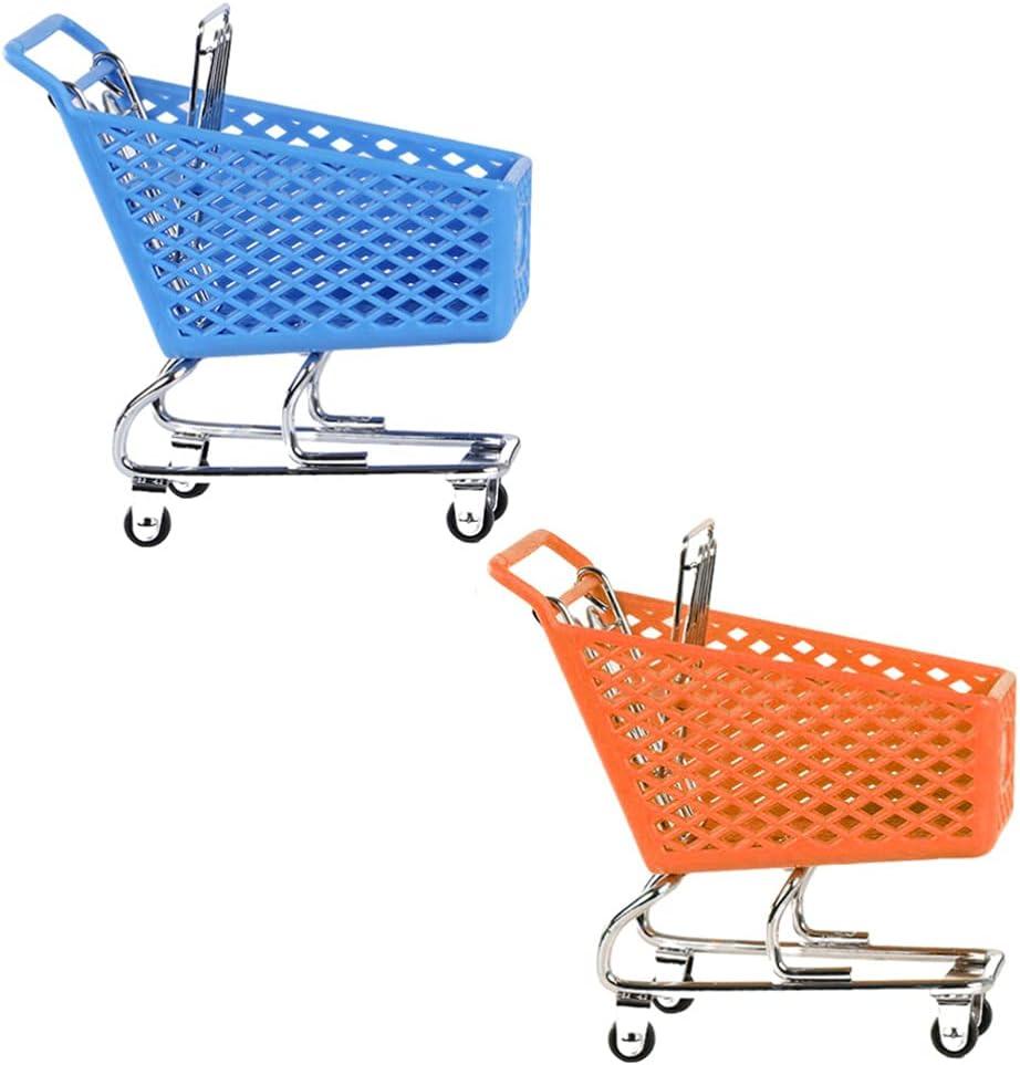Cabilock 2pcs Mini Shopping Supermarket 5 ☆ very Max 75% OFF popular Cart Handcart Shopp