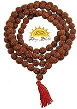 Divya Shakti Ramneek Jewels Panch Mukhi Rudraksh Mala In 108+1 Beads (6 mm, Brown)
