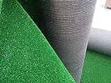olimpico manto prato sintetico erba verde tappeto erba sintetica lungo 10 m x 1 mt (10 mq) - drenante alta qualità