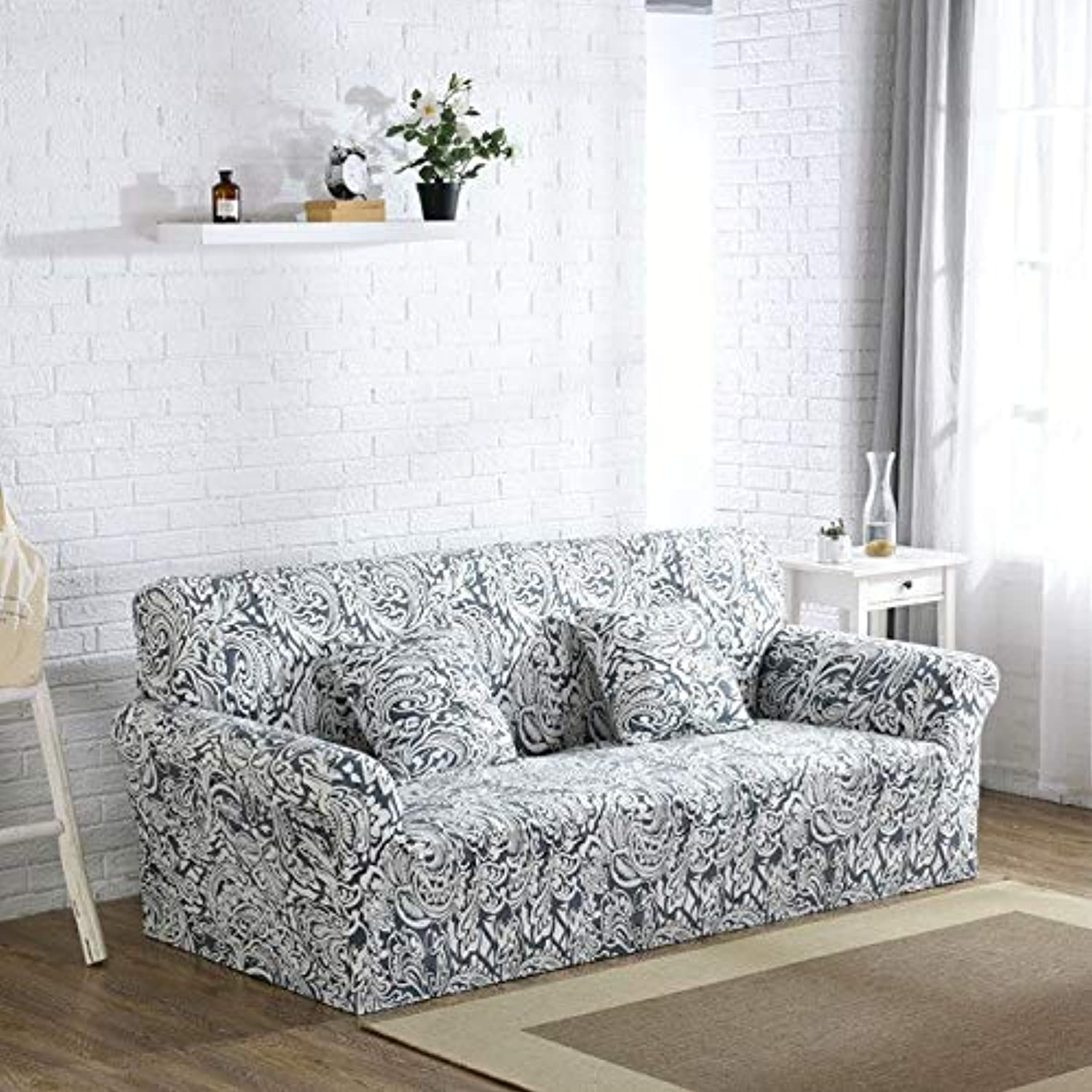 Farmerly Dreamworld Floral Sofa Cover Spandex colorful Covers for Sofas Elastic Sofa Cover for Furniture Living Room Singel Double   FWH, Single 90-140CM