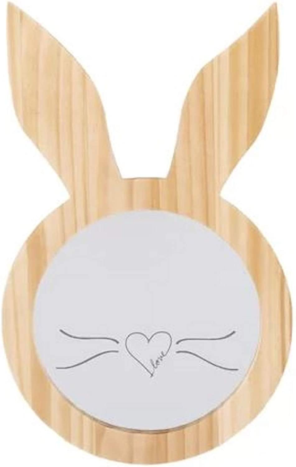 House Decoration Modern Accent Mirror. Starry Night Bunny Ears House Decoration Modern Accent Mirror Round Natural Wood Frame Shatter Proof Wall Mounted