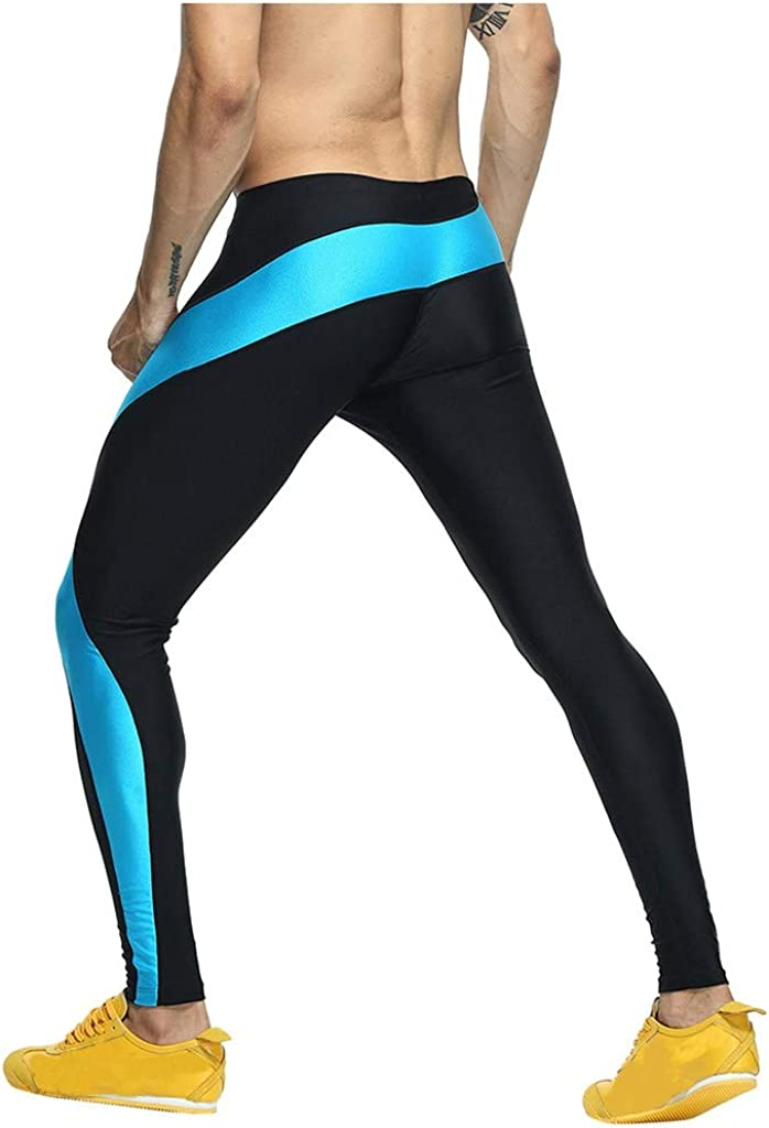 SANFASHION 2020 Newest Men Leggings Breathable Yoga Fitness Printed Long Pants Sport Gym Running Compression Comfy Underwear Trousers for All Season