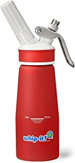 Whip-it! PRO-33R Whipped Cream Dispenser 1/4 L Rubber Coated, Red