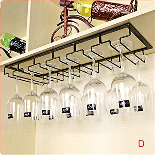 Wine Glass Holder - 3 Rows Stemware Rack Under Cabinet - Goblet Holder Inversion Hanging Wine Glass Holder Household Wine Bar Decoration