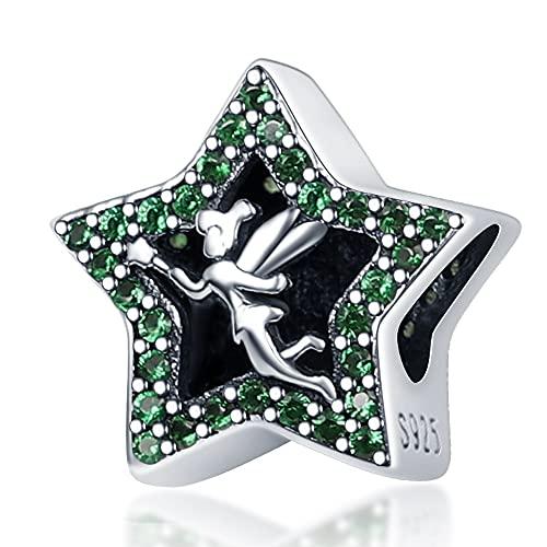 Damen Anhänger 925 Sterling Silber Pandora Bead Armband Schmuck Pentagramm Mit Zirkon Kleine Engel Charms Passend Original Armreif Geschenk