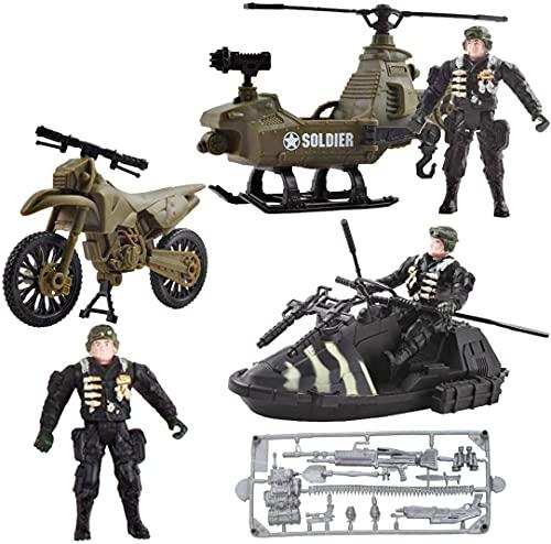 deAO Vehículos de Combate Modelo a Pequeña Escala Figuras Coleccionables Conjunto Playset Fuerzas Armadas y Unidad de Defensa Militar