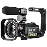 4K Camcorder Vlogging Camera for YouTube ORDRO HDR-AC3 Ultra HD Video...