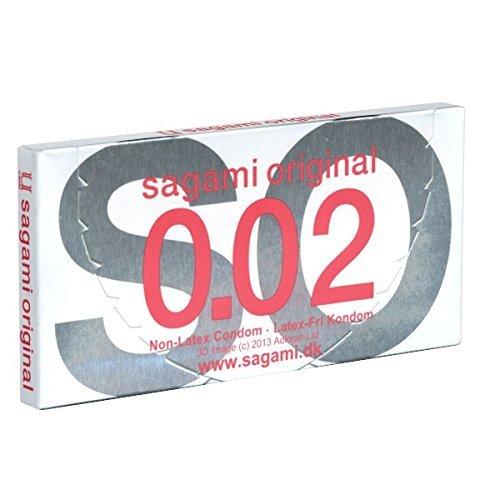 Sagami Original latexfrei 2 Kondome - latexfreie Kondome, japanische Kondome, hypoallergen, hygienisch verpackt
