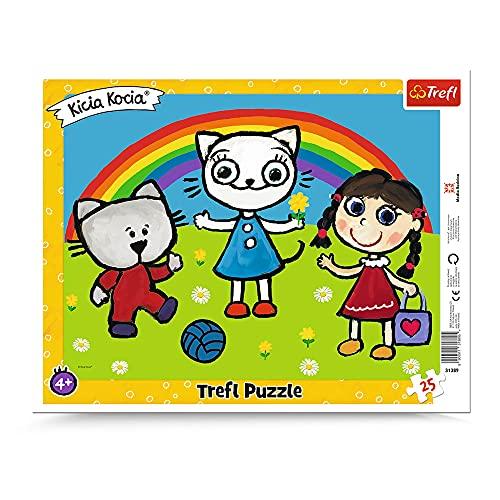 Trefl Pogodny dzień Kici Koci Puzzle Ramkowe dla Dzieci od 4 lat