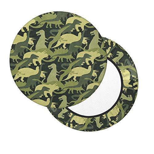 Funda de Asiento para Silla Dinosaurio Verde Material Ploiéster Duradero Fundas Decorativas para sillas de Comedor 12-14in